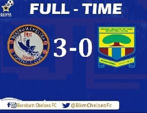 Berekum Chelsea 3-0 Hearts of Oak – GPL week 5