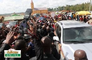 Mahama mobbed at Super OD's funeral