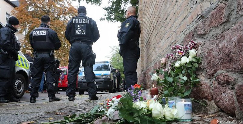 Locals join Jewish community for vigil in German city of Halle