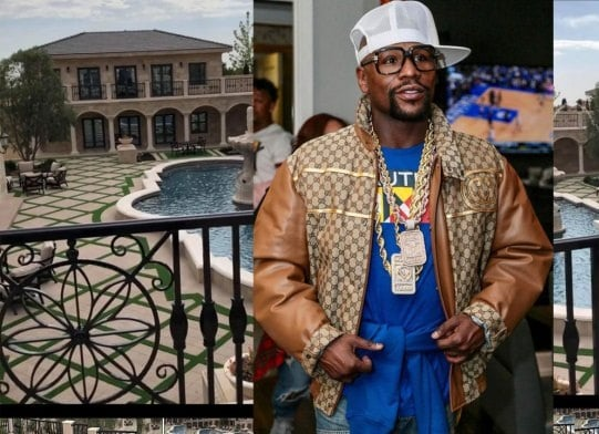 Full view of Floyd Mayweather's GH¢138m Los Angeles mansion