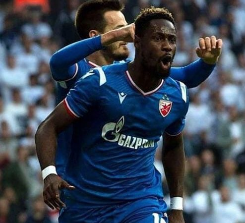 Richmond Boakye Yiadom scores as Red Star Belgrade beat Proleter 2-0