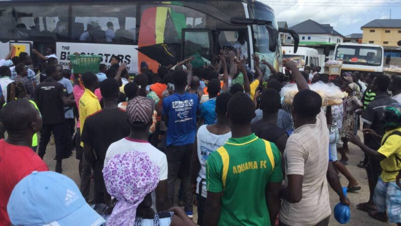 massive love in Winneba, Makessim en route to Cape Coast for South Africa clash