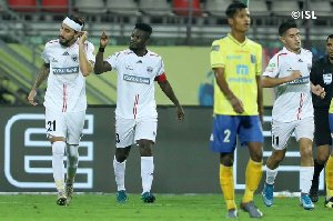 Asamoah Gyan named Man-of-the-Match after NorthEast draw in Indian top-flight