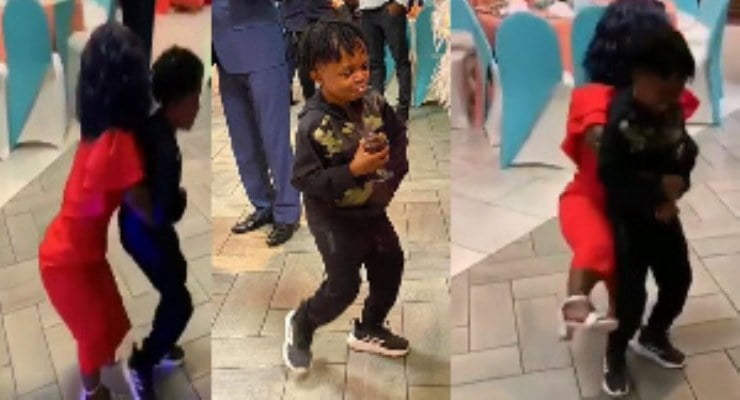 Adwoa Smart grinds Don Little at her 50th birthday party