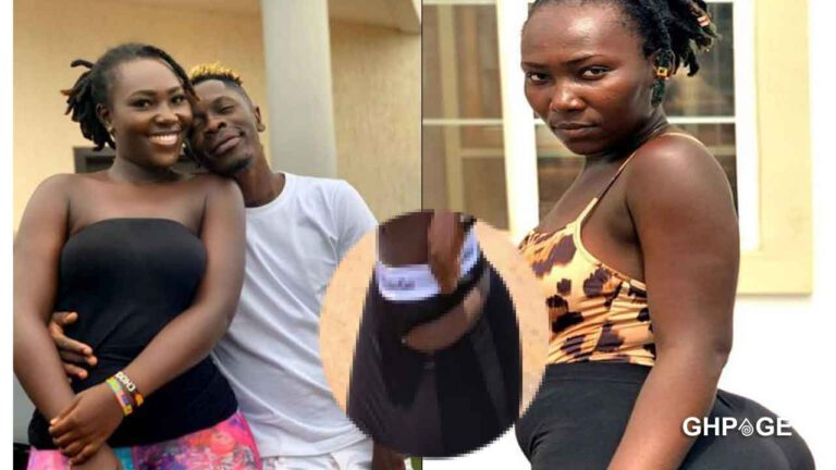 Watch pictures: Shatta Wale's girlfriend goes naked; removes her pants on social media