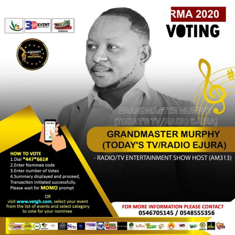 Grandmaster Murphy optimistic of winning big at 2020 Ashanti Region Music Awards