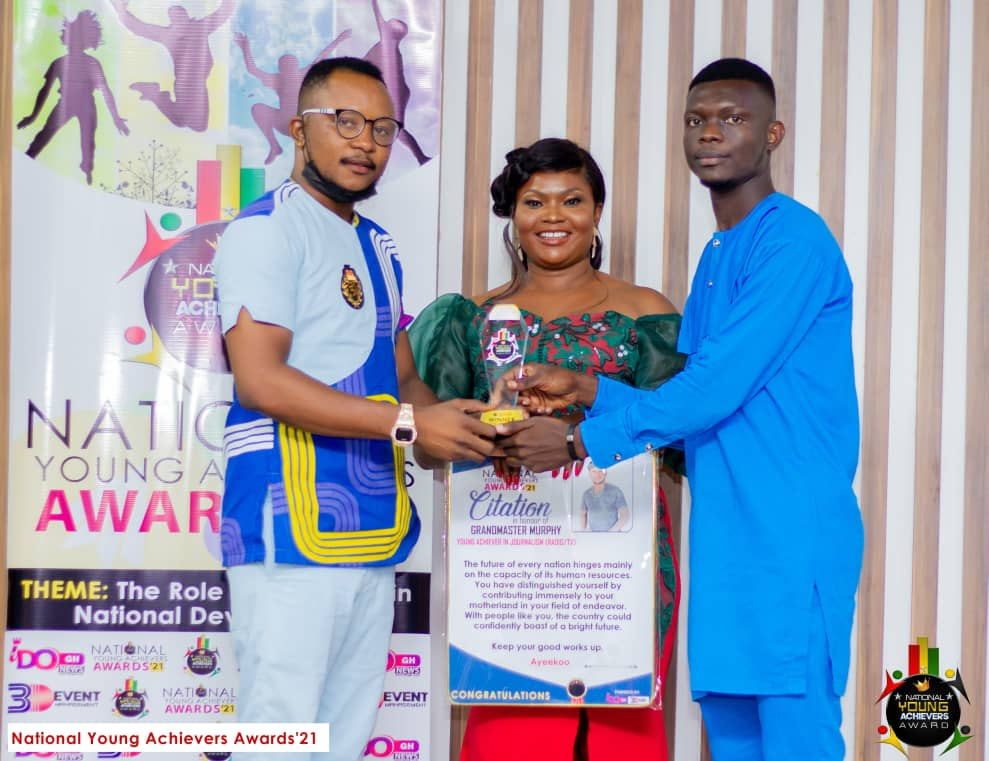 (Photos) National Young Achievers Awards 2021!! Grandmaster Murphy Wins Young Achiever in Journalism