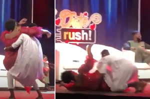 Yawa? Watch Video Of The Hilarious Moment Ali Dropped Shemima Like A 'Bag Of Rice' And Ignored Her Live On TV During TV3's Date Reunion – Video